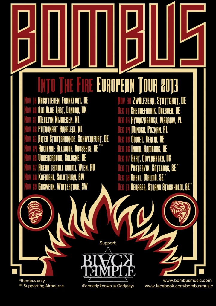Bombus European Tour 2013